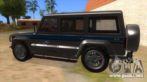 Benefactor Dubsta Jurassic World Security para GTA San Andreas left