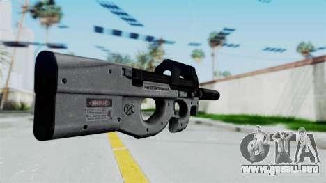 P90 Grey para GTA San Andreas segunda pantalla