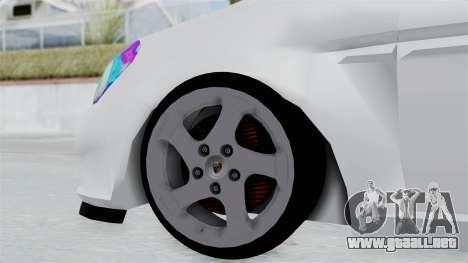 Hyundai Accent Essential Garage para GTA San Andreas vista posterior izquierda