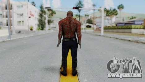 Marvel Heroes - Drax para GTA San Andreas tercera pantalla