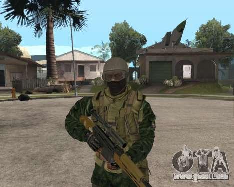 Ejército ruso Skin Pack para GTA San Andreas sucesivamente de pantalla