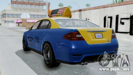 GTA 5 Vapid Stanier Ⅲ (Interceptor) Taxi para GTA San Andreas left