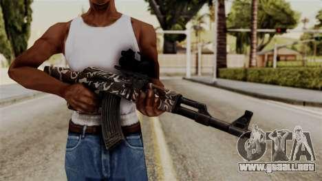 AK-47 F.C. Camo para GTA San Andreas tercera pantalla