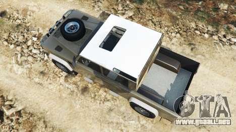 GTA 5 Land Rover Defender 110 Pickup vista trasera