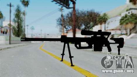 M2000 CheyTac Intervention para GTA San Andreas segunda pantalla
