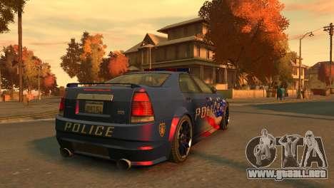 Albany Police Stinger para GTA 4 Vista posterior izquierda