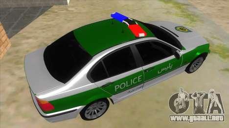 BMW Iranian Police para la visión correcta GTA San Andreas