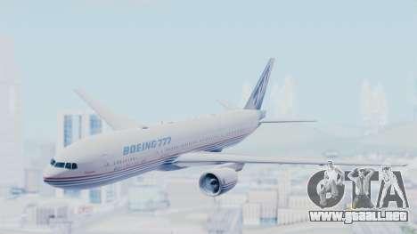 Boeing 777-200 Prototype para GTA San Andreas vista posterior izquierda