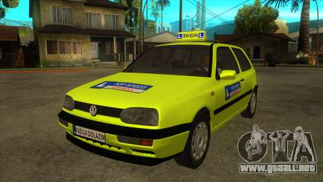 VW Golf Mk3 Top Speed Auto Skola para GTA San Andreas