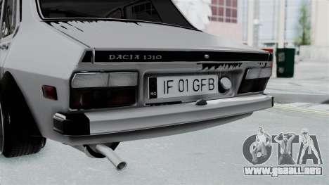 Dacia 1300 Shark (GFB V4) para GTA San Andreas vista hacia atrás