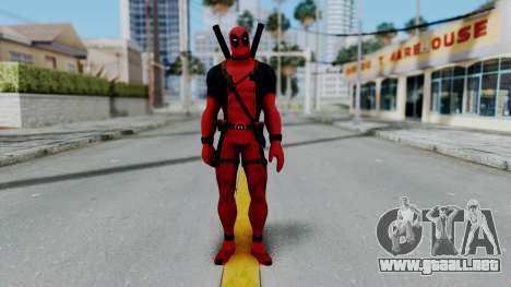 Marvel Heroes - Deadpool para GTA San Andreas segunda pantalla