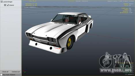 GTA 5 1974 Ford Capri RS vista lateral derecha