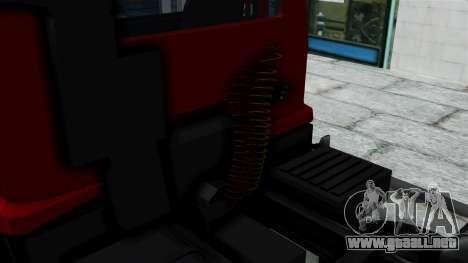 FAP Kamion Stock para GTA San Andreas vista posterior izquierda