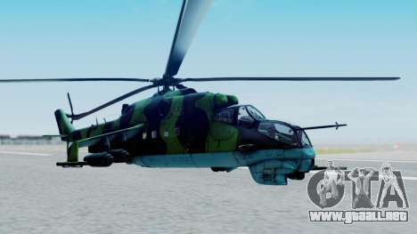 Mi-24V Afghan Air Force 112 para GTA San Andreas