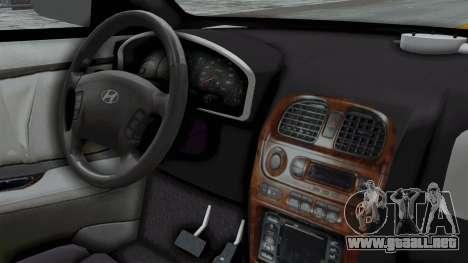 Hyundai Accent Essential Garage para la visión correcta GTA San Andreas