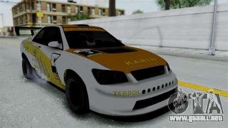 GTA 5 Karin Sultan RS Drift Big Spoiler PJ para GTA San Andreas interior