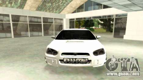 Subaru Impreza WRX STi Civil para la visión correcta GTA San Andreas