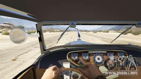 GTA 5 Ford T 1927 Roadster vista trasera