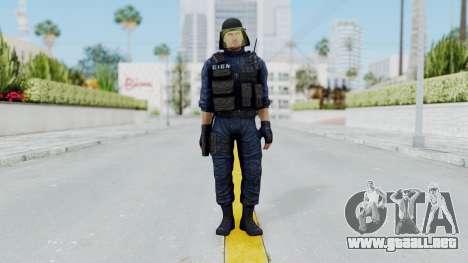 GIGN 1 No Mask from CSO2 para GTA San Andreas segunda pantalla