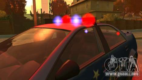 Albany Police Stinger para GTA 4 vista interior