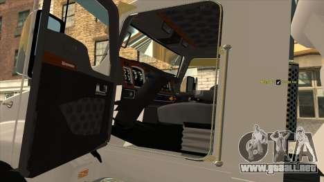 Kenworth T600 Camión De Cemento para la visión correcta GTA San Andreas