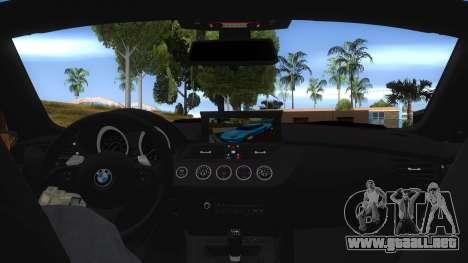 BMW Z4 Liberty Walk Performance Livery para visión interna GTA San Andreas