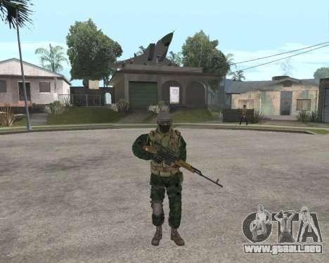 Ejército ruso Skin Pack para GTA San Andreas sexta pantalla