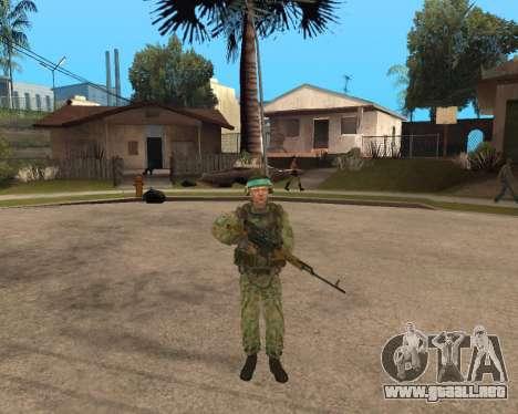 Ejército ruso Skin Pack para GTA San Andreas