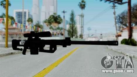 M2000 CheyTac Intervention without Stands para GTA San Andreas segunda pantalla