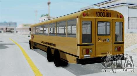 Bus from Life is Strange para GTA San Andreas left