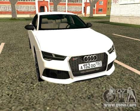 Audi RS7 Quattro para GTA San Andreas left