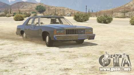 GTA 5 1987 Ford LTD Crown Victoria vista trasera