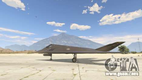 Lockheed F-117 Nighthawk Black 2.0 para GTA 5