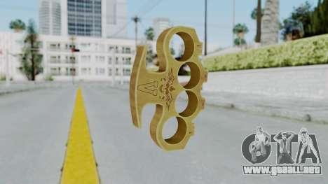 The Vagos Knuckle Dusters from Ill GG Part 2 para GTA San Andreas segunda pantalla