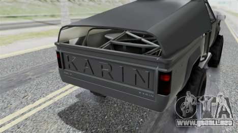 GTA 5 Karin Rebel 4x4 IVF para visión interna GTA San Andreas