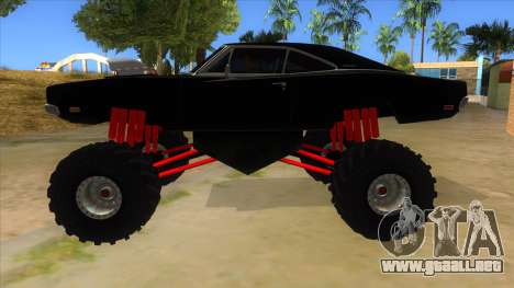 1969 Dodge Charger Monster Truck para GTA San Andreas left