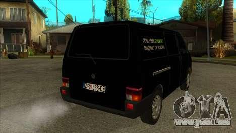 VW T4 Mrtvačka ruedas para la visión correcta GTA San Andreas
