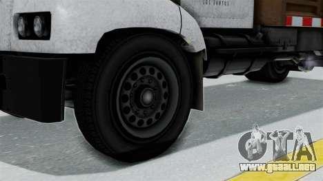 GTA 5 Tipper Second Generation para GTA San Andreas vista posterior izquierda