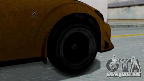 GTA 5 Karin Sultan RS Rally PJ para GTA San Andreas vista posterior izquierda