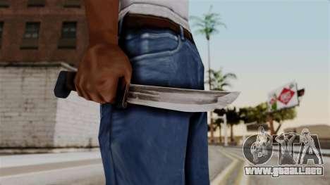 Batman Arkham City - Knife para GTA San Andreas tercera pantalla
