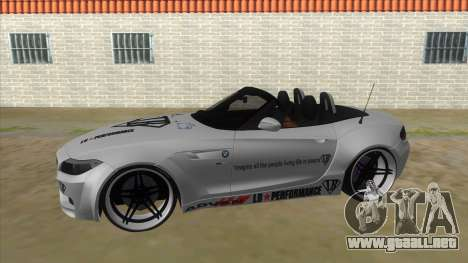 BMW Z4 Liberty Walk Performance Livery para GTA San Andreas left