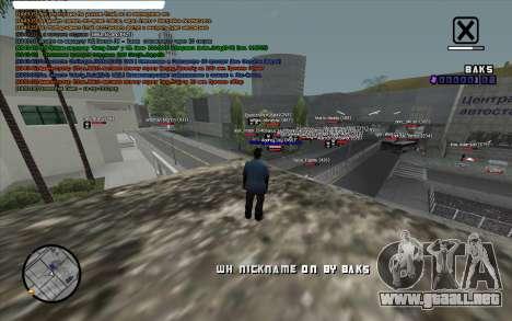 WH Nick Name para GTA San Andreas segunda pantalla