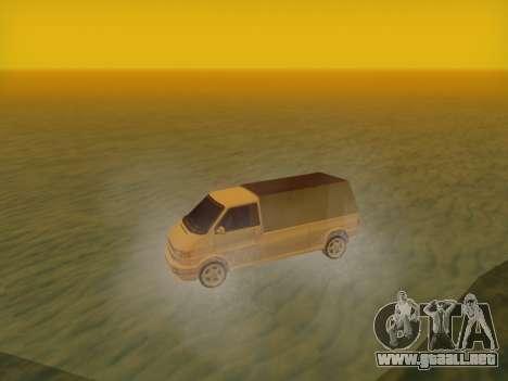 Volkswagen T4 Caravelle 35 Taza (1997) [Вездеход para GTA San Andreas vista posterior izquierda