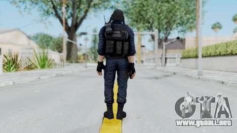 GIGN 1 No Mask from CSO2 para GTA San Andreas tercera pantalla