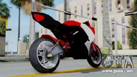 Yamaha YZF-R25 YoungMachine Concept para la visión correcta GTA San Andreas