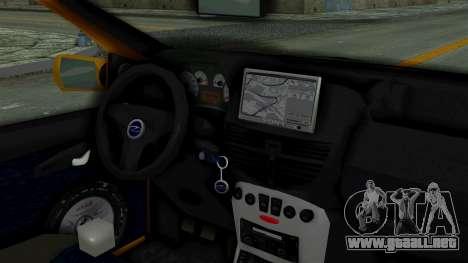 Zastava 10 2006 Final Version para GTA San Andreas vista posterior izquierda