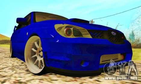 Subaru Impreza WRX STI Lisa para GTA San Andreas left