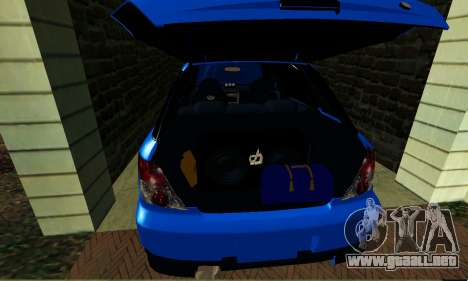 Subaru Impreza WRX STi Wagon 2003 para visión interna GTA San Andreas