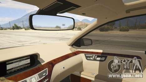 GTA 5 2011 Mercedes-Benz S600 Guard Pullman vista lateral trasera derecha