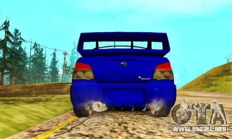 Subaru Impreza WRX STI Lisa para GTA San Andreas vista hacia atrás